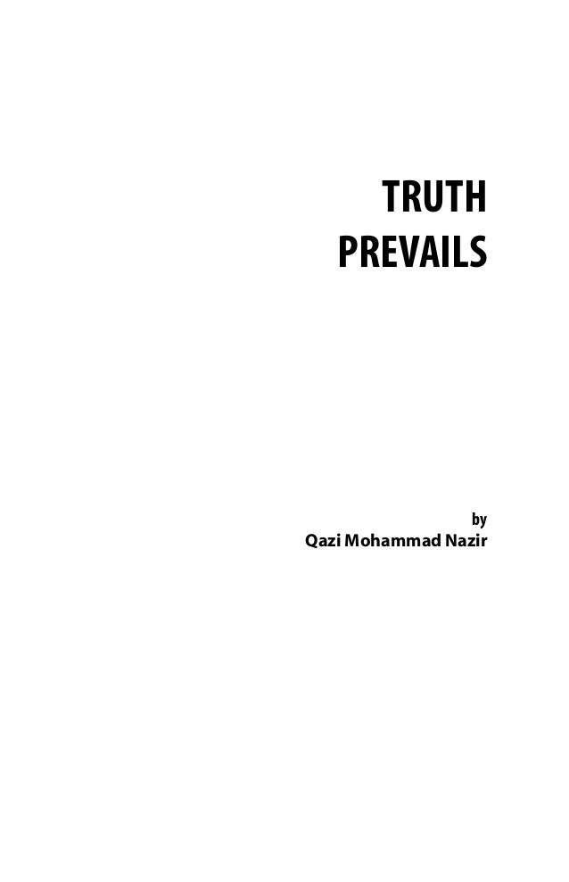 TRUTH ALWAYS PREVAILS PDF DOWNLOAD