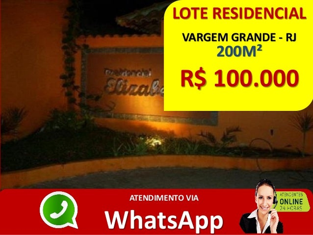 LOTE RESIDENCIAL VARGEM GRANDE - RJ 200M² R$ 100.000 ATENDIMENTO VIA WhatsApp