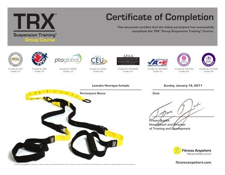 Trx certificate