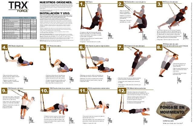 Trx force tabla de ejercicios