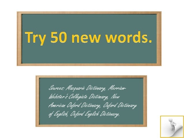 Try 50 New Words