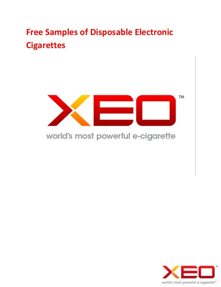 Free Samples of Disposable ElectronicCigarettes