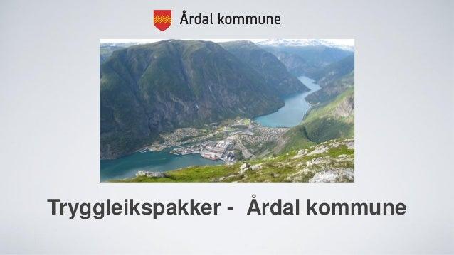 Tryggleikspakker - Årdal kommune