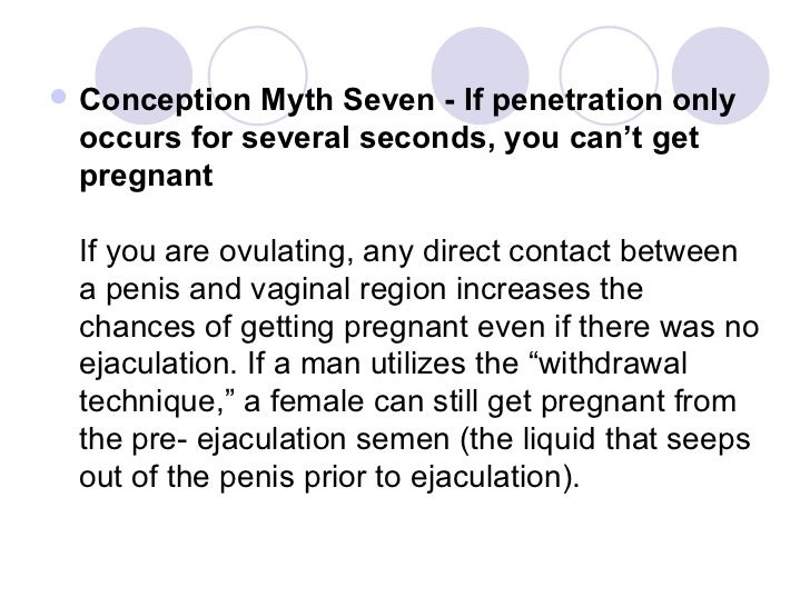 what is pre ejaculation and pregnancy