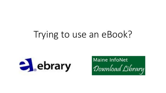 Trying to use an eBook?
