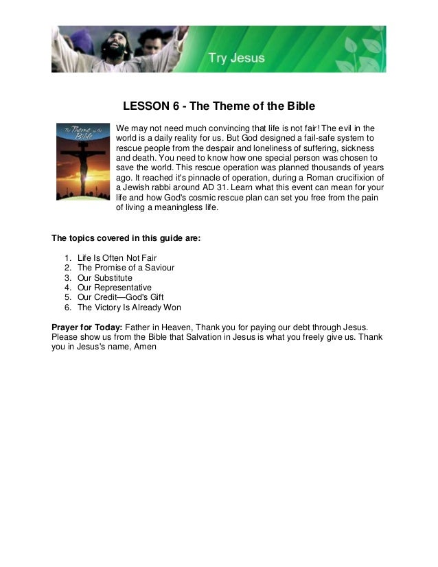 Try Jesus (SDA Bible Doctrines)