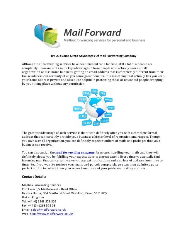 Try Out Some Great Advantages Of Mail Forwarding Company Although mail  forwarding services have been present