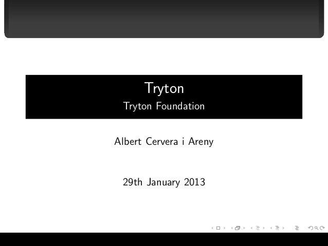 Tryton                                   Tryton Foundation                                  Albert Cervera i Areny        ...