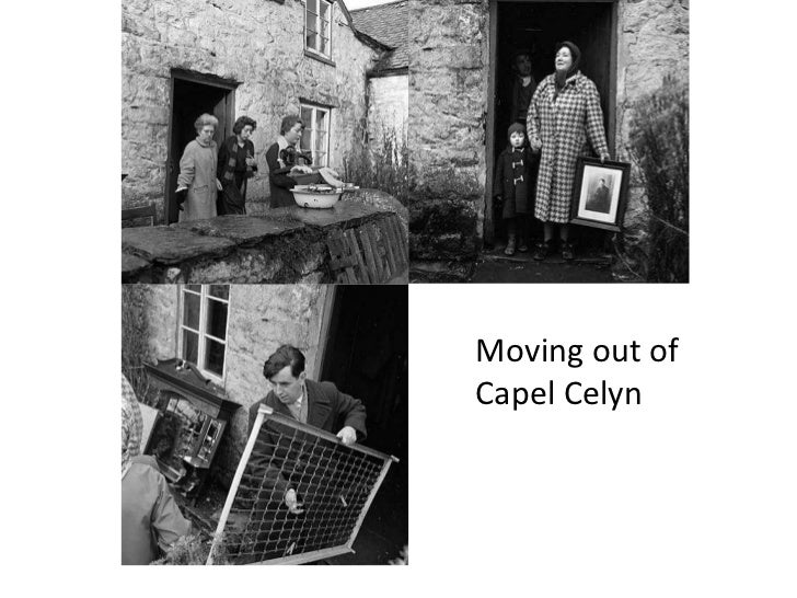 Moving out of Capel Celyn