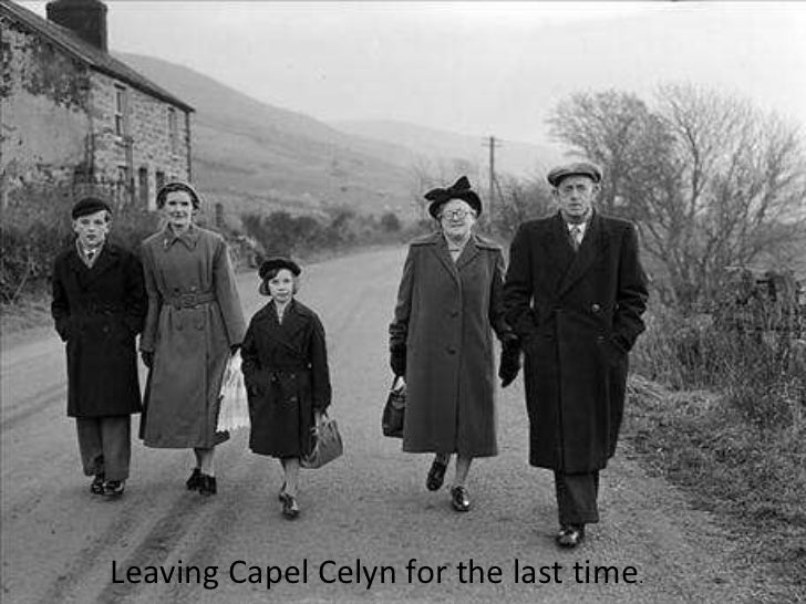 Leaving Capel Celyn for the last time .