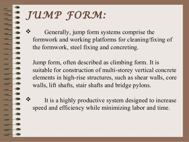 Jump Formwork