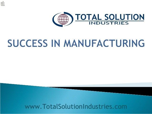 www.TotalSolutionIndustries.com
