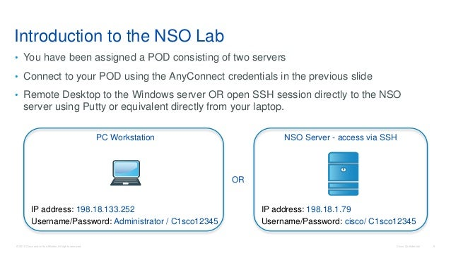 NSO: Network Service Orchestrator enabled by Tail-f Hands-on Lab