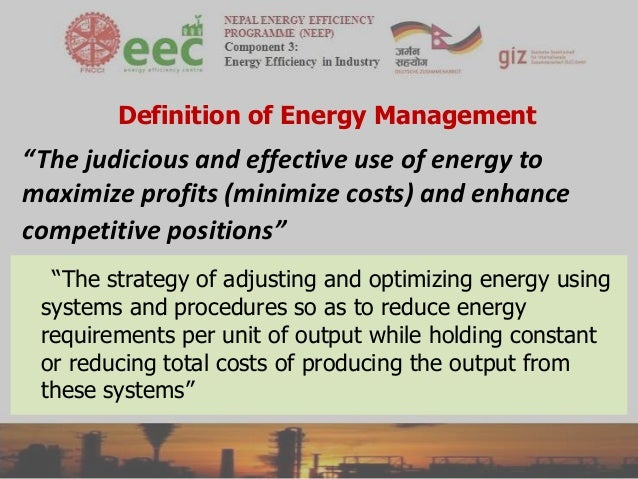 Judicious Use of Energy