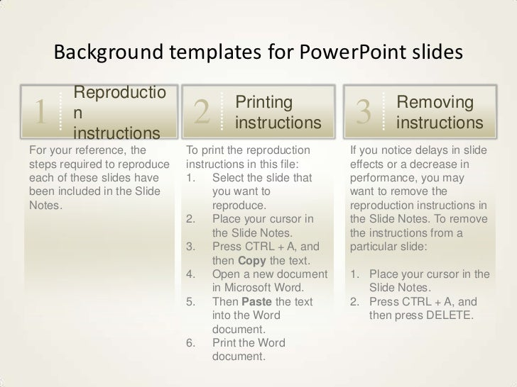 Background templates for PowerPoint slides        Reproductio                                      Printing               ...