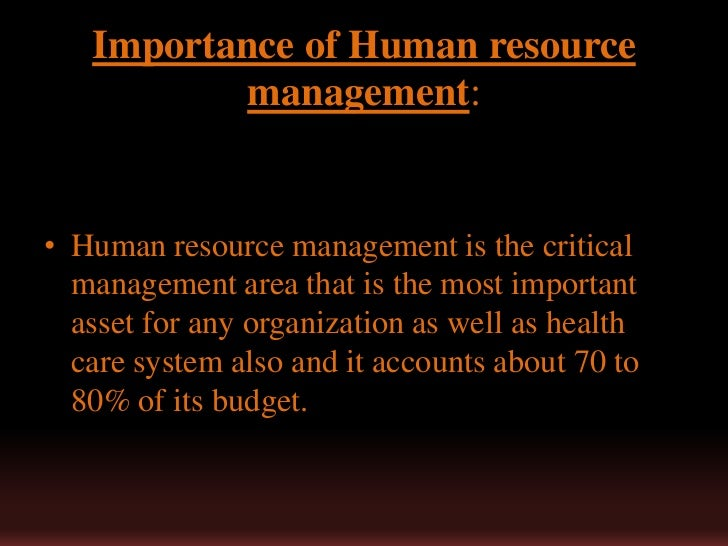 human resource is the most important asset of an organization essay Human resource is the most important asset of an organization assets, defined as a 'valuable thing' by oxford dictionaries, are key success determinants of any organization.