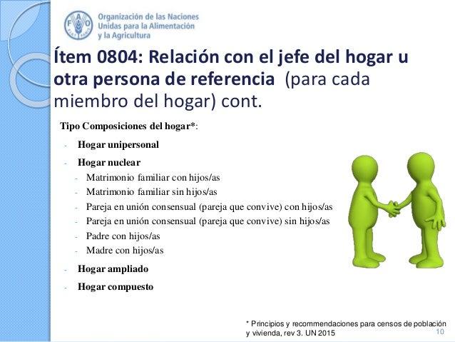 Ítem 0804: Relación con el jefe del hogar u otra persona de referencia (para cada miembro del hogar) cont. Tipo Composicio...