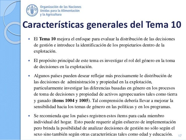 Características generales del Tema 10  El Tema 10 mejora el enfoque para evaluar la distribución de las decisiones de ges...