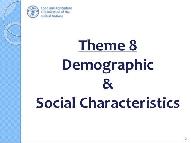 Theme 8 Demographic & Social Characteristics 12
