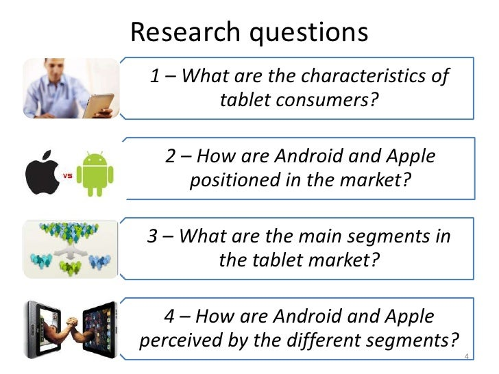 Apple and Android in the tablet market