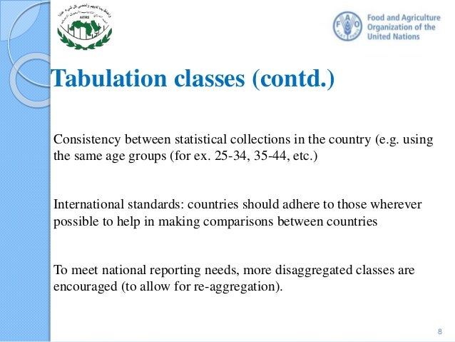 "guidelines for tabulation There are no hard and fast rules for preparing a statistical table prof bowley has rightly pointed out ""in collection and tabulation, common sense is the chief requisite and experience is the chief teacher"" however, the following points should be borne in mind while preparing a table."