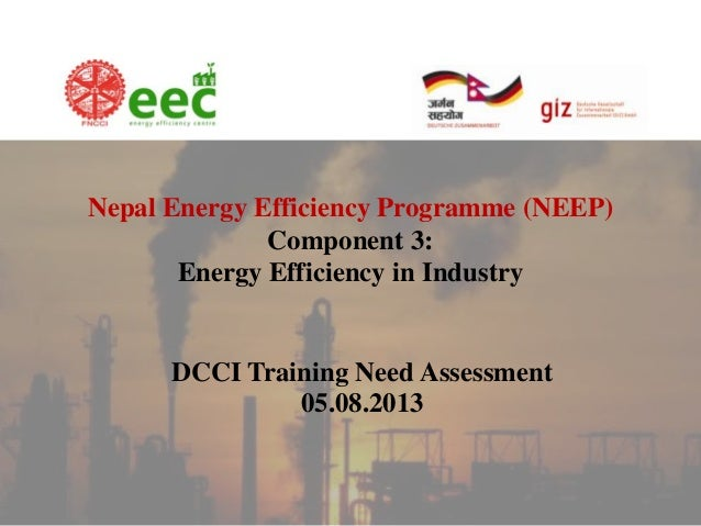 Nepal Energy Efficiency Programme (NEEP) Component 3: Energy Efficiency in Industry  DCCI Training Need Assessment 05.08.2...