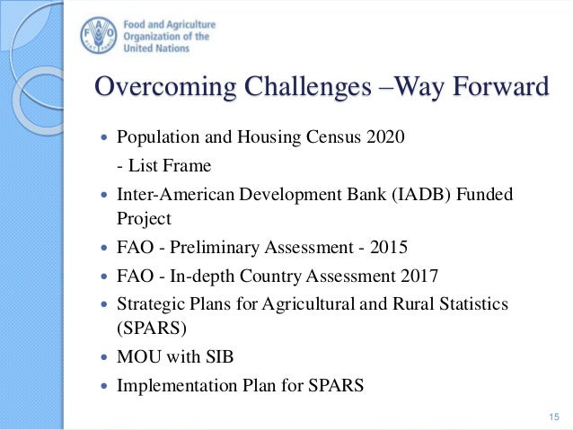 Overcoming Challenges –Way Forward  Population and Housing Census 2020 - List Frame  Inter-American Development Bank (IA...