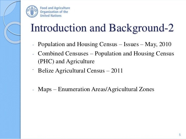 Introduction and Background-2 - Population and Housing Census – Issues – May, 2010 - Combined Censuses – Population and Ho...