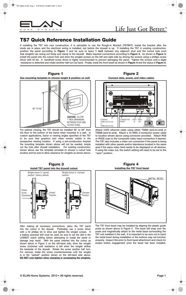 Ts7 quick install_guide_9901011_rev_a