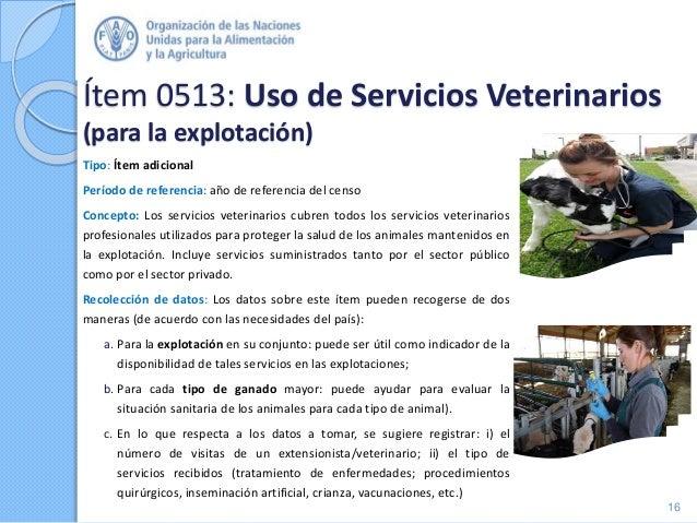 Ítem 0513: Uso de Servicios Veterinarios (para la explotación) Tipo: Ítem adicional Período de referencia: año de referenc...