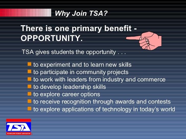 student technology association tsa students why join