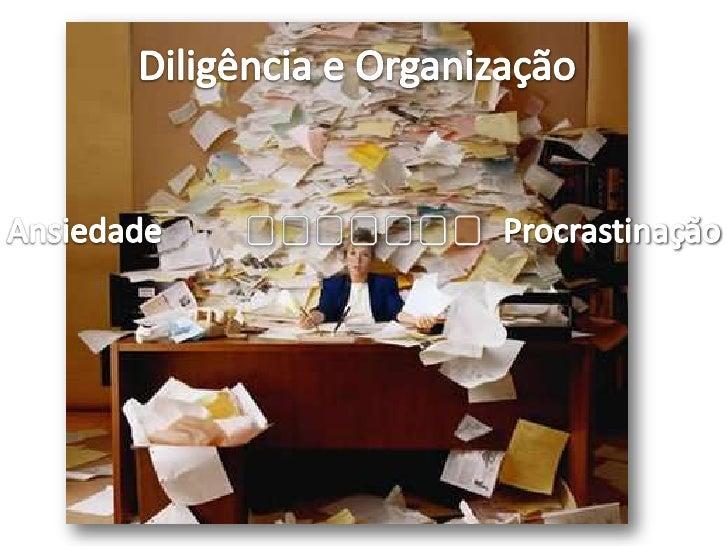 Diligência e Organização<br />Ansiedade<br />Procrastinação<br />