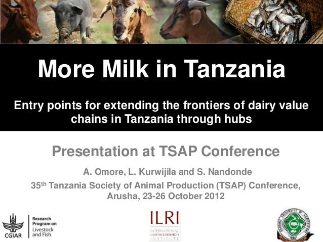 More Milk in Tanzania Entry points for extending the frontiers of dairy value chains in Tanzania through hubs  Presentatio...
