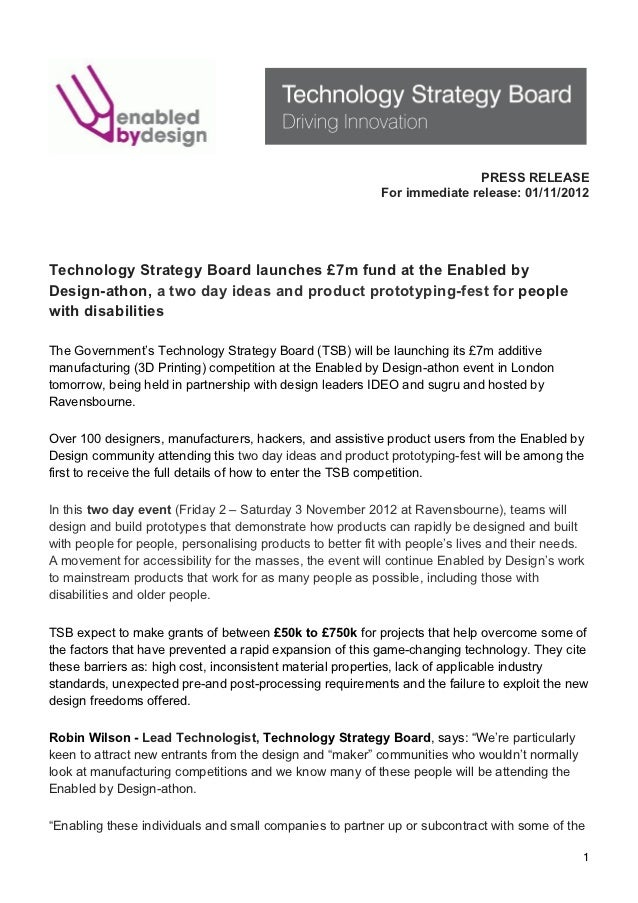 TSB Enabled by Design press release 01nov12