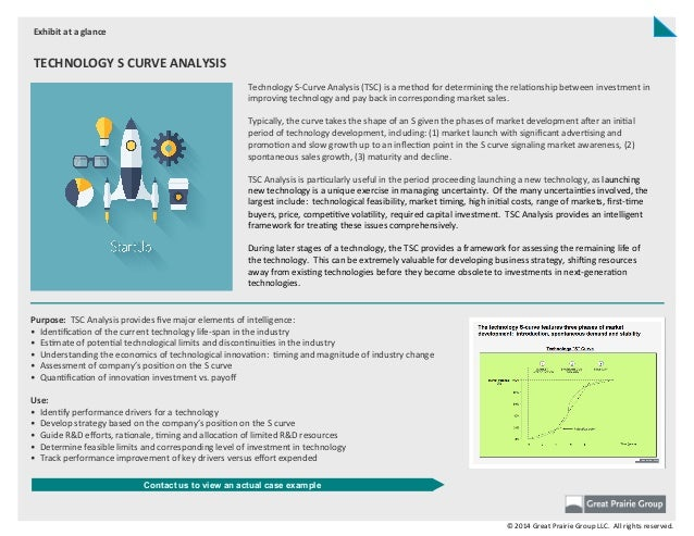 Technology  S-‐Curve  Analysis  (TSC)  is  a  method  for  determining  the  rela;onship  between ...