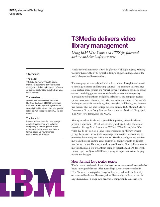 T3Media delivers video library management