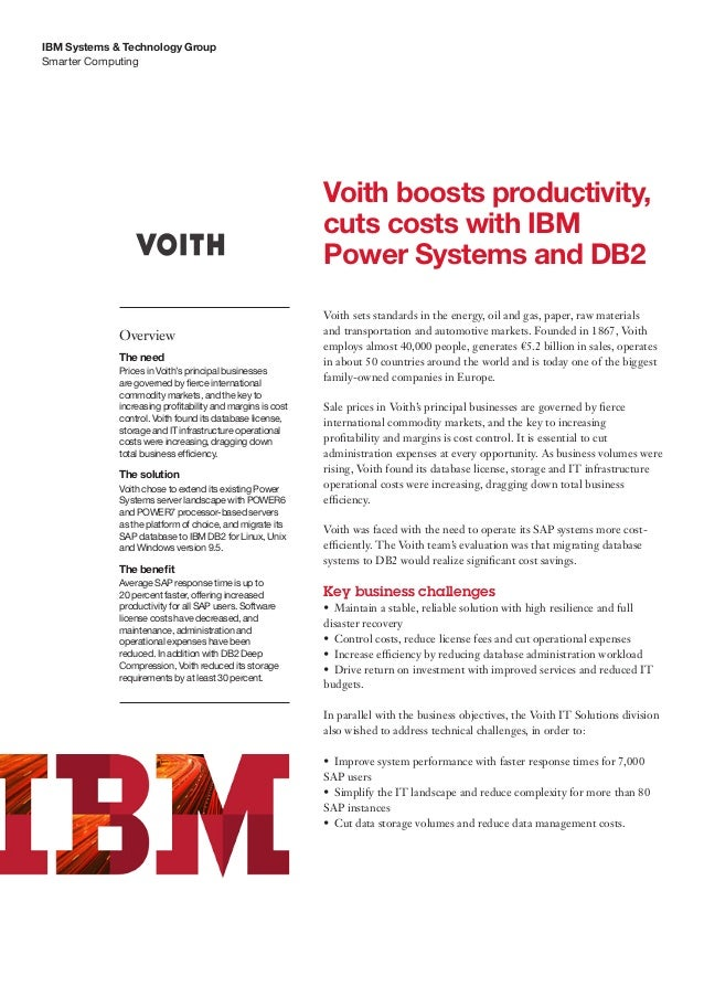 IBM Systems & Technology GroupSmarter Computing                                                            Voith boosts pr...