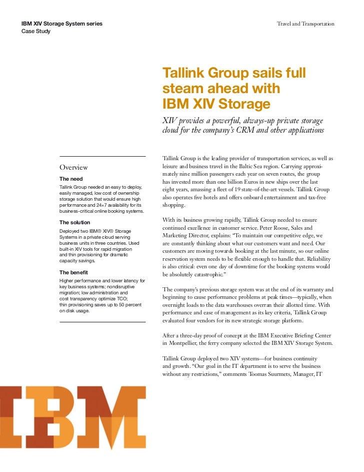 IBM XIV Storage System series                                                                              Travel and Tran...
