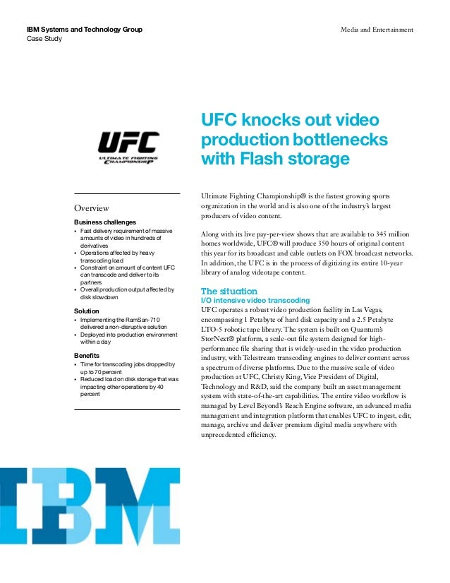 Case analysis of ufc