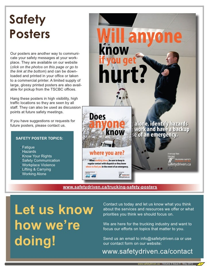 Trucking Safety Council of BC - May 2012 Newsletter