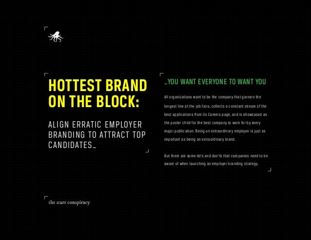 HOTTEST BRAND             _YOU WANT EVERYONE TO WANT YOUON THE BLOCK:             All organizations want to be the company...