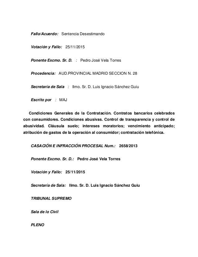 Sent Ncia Del Tribunal Suprem 705 2015 Del 23 De Desembre
