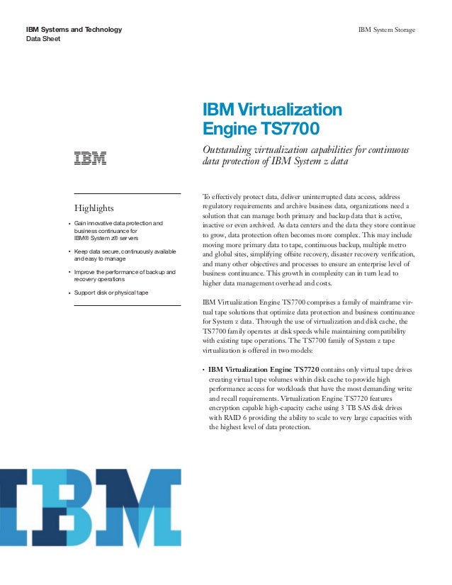 IBM Virtualization Engine TS7700