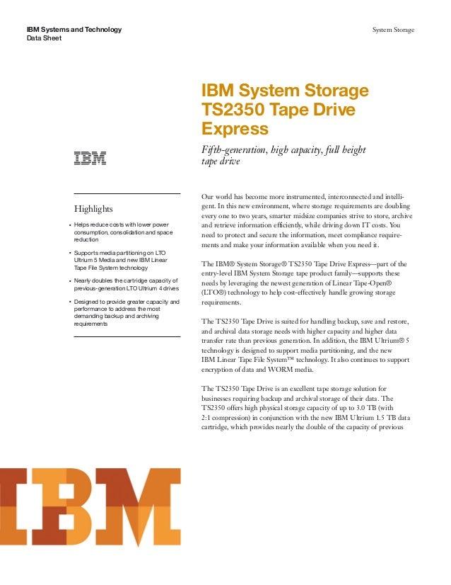 IBM System Storage TS2350 Tape DriveExpress