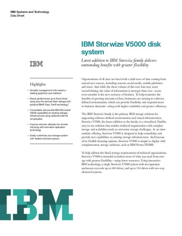 IBM Storwize V5000 disk system