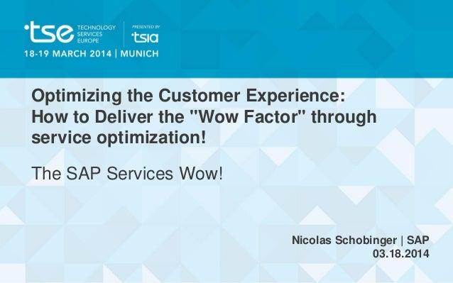 Nicolas Schobinger | Optimizing the Customer Experience: How