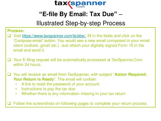 TaxSpanner EfileByEmail Tax Dues