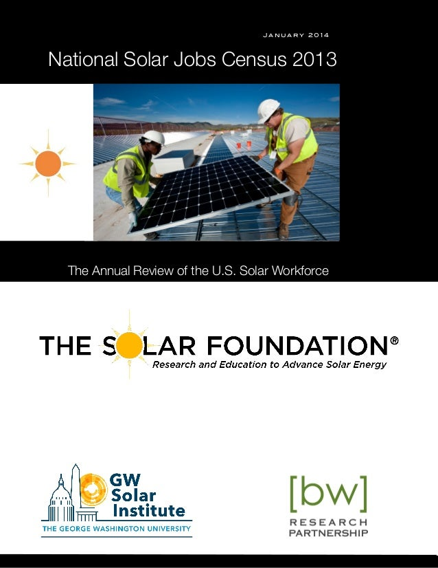 January 2014  National Solar Jobs Census 2013  s