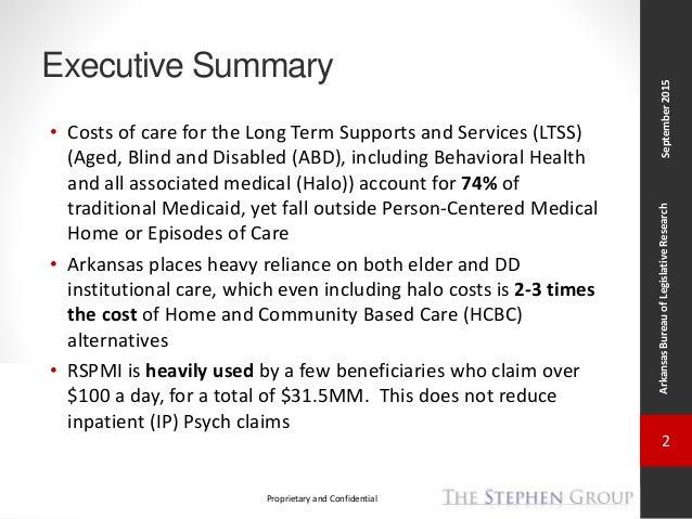 Arkansas Health Care Reform Task Force: TSG Status Update # 4 Slide 2