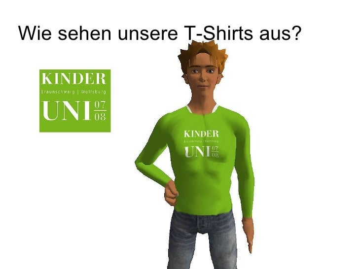 Wie sehen unsere T-Shirts aus?